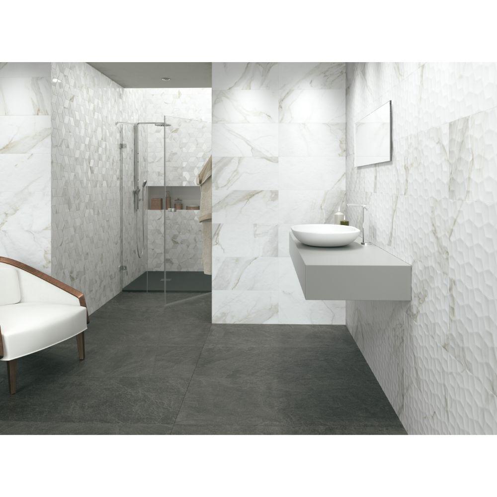 Adella Calacatta 12X24 Satin Matte Ceramic Tile