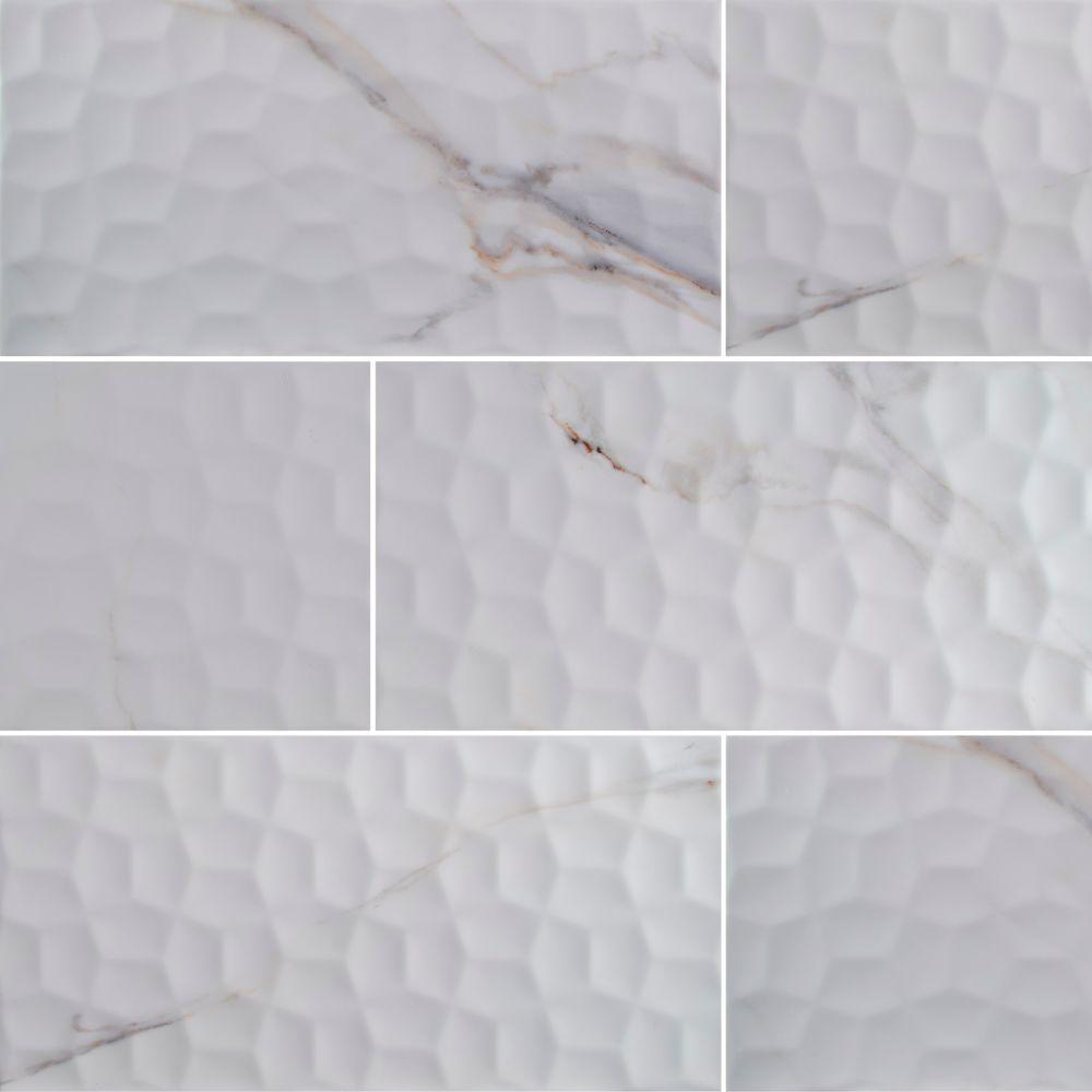 Adella Viso Calacatta 12X24 Satin Matte Ceramic Tile