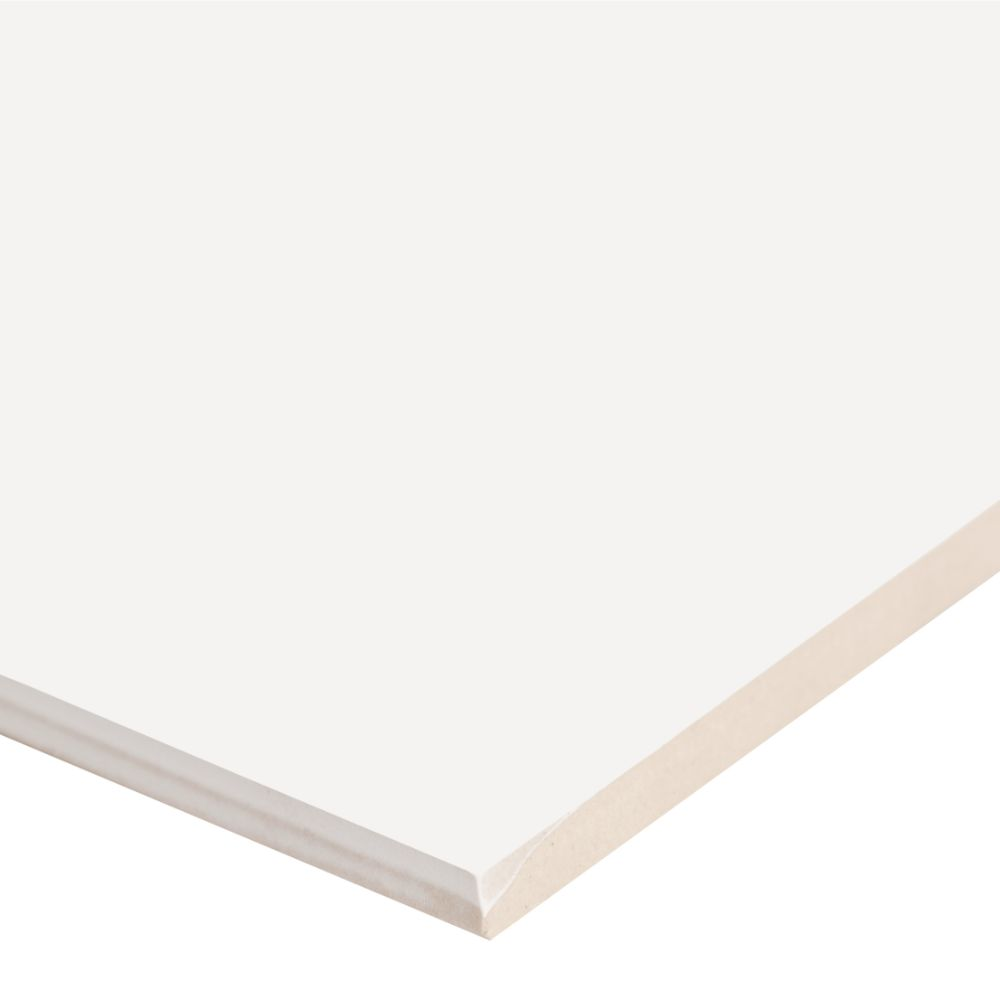 Adella White 12X24 Satin Matte Ceramic Tile