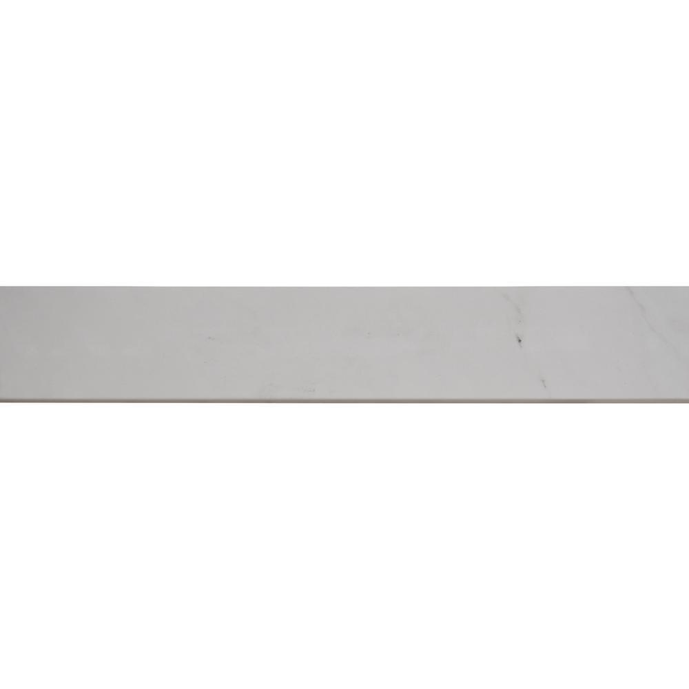 Aria Ice Bullnose 3X18 Polished Porcelain Tile