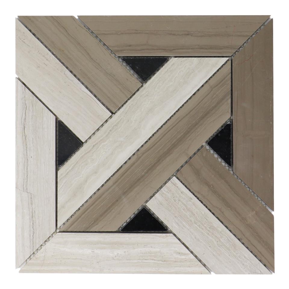 Arrow Weave 12x12 Teakwood Mosaic