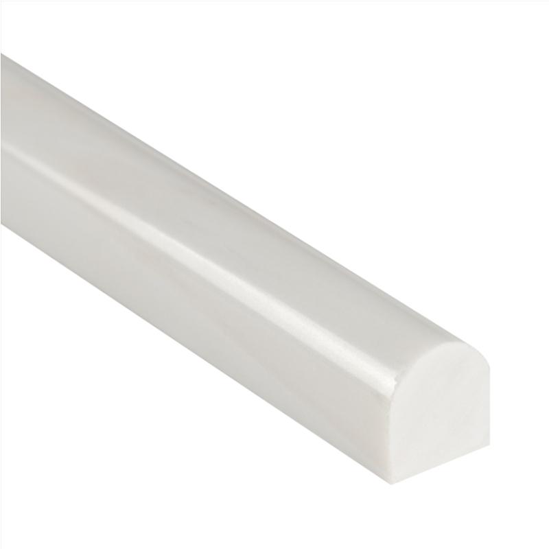 Bianco Dolomite 1x12 Polished Pencil Molding