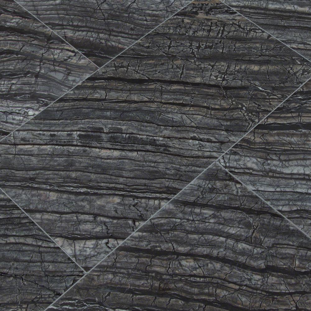 Black Oak 12X24 Polished Marble TIle
