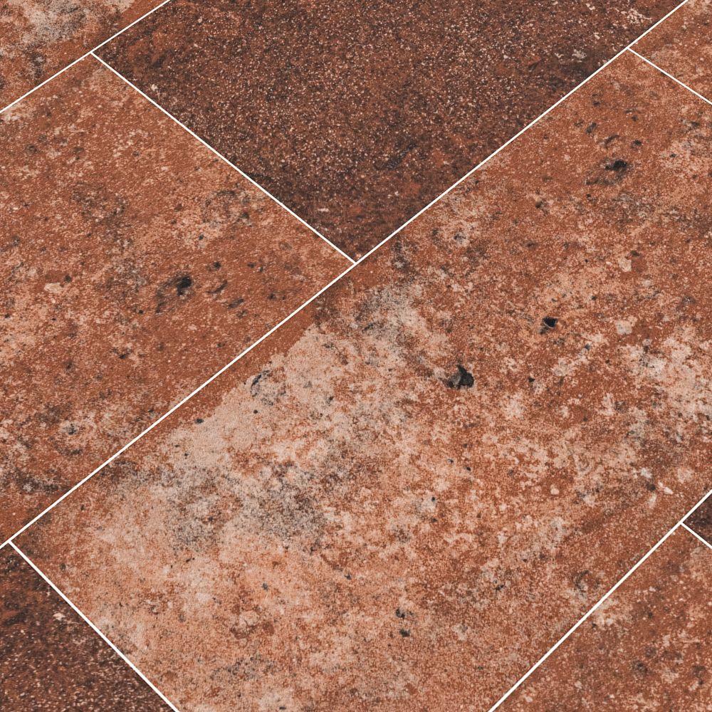 Capella Red 5X10 Brick Pattern Matte Porcelain Tile