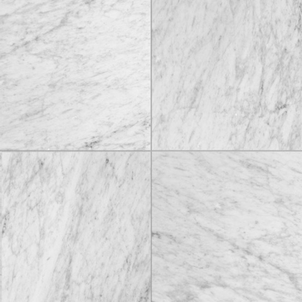 Carrara White C 12x12 Polished Marble Tile Floor