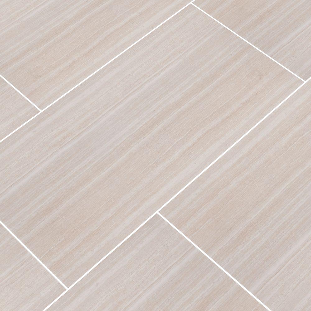 Charisma White 12X24 Matte Ceramic Tile