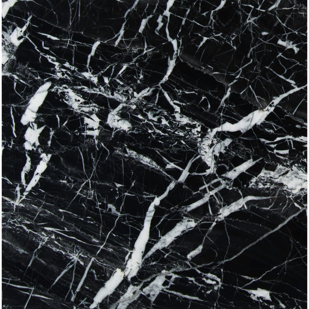 China Black With Vein 12X12 Polished