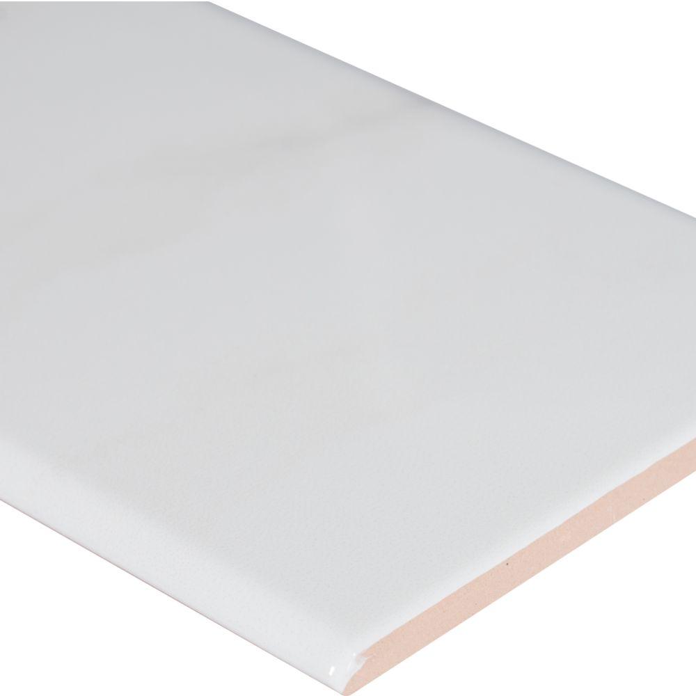 MSI Classique White Carrara 4X16 Glossy Bullnose