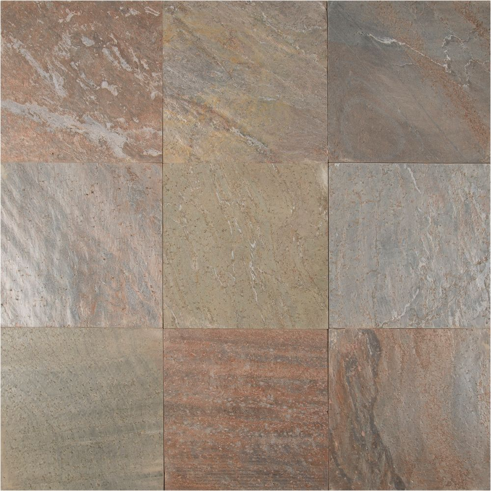 Copper 12X12 Honed Quartzite Tile