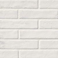 Capella White 2X10 Brick Pattern Matte Porcelain Tile