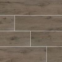 Celeste Taupe 8X40 Black Matte Wood Look Ceramic Tile