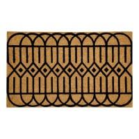 Geometric Black Natural Coir 22X36 Door Mat