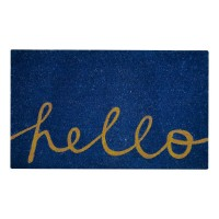 Hello Blue Natural Coir 18X30 Door Mat