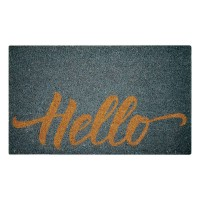 Hello Gray Natural Coir 18X30 Door Mat