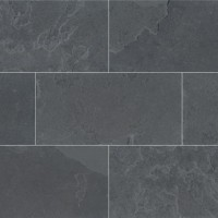 Montauk Black 12X24 Gauged Slate Tile