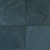 Premium Black Classic 24x24 Gauged Slate Tile