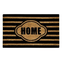 Stripe Home Black Natural Coir 18X30 Door Mat