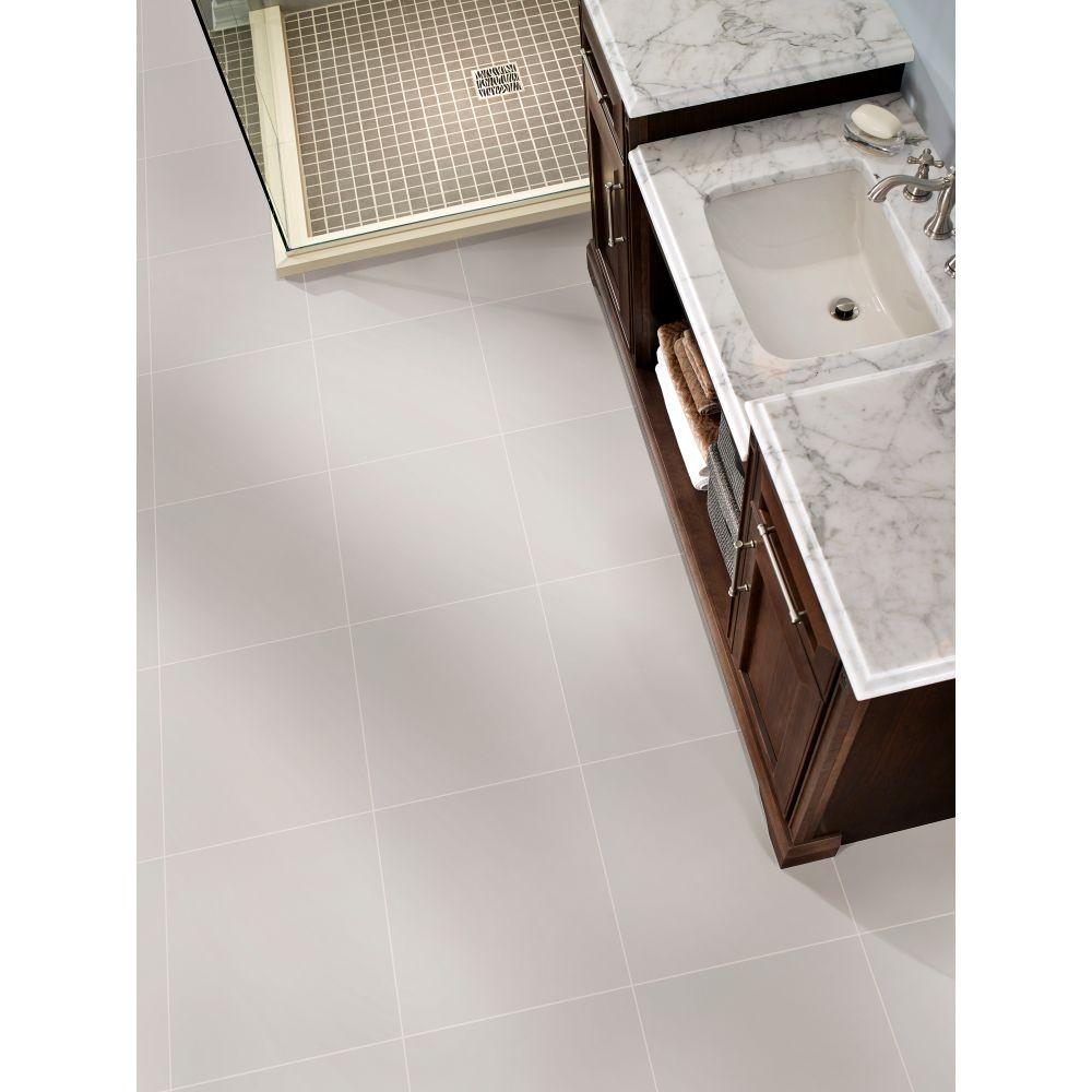 Adella White 18X18 Matte Porcelain Tile