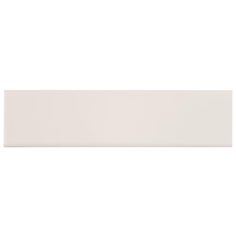 Almond 4X16 Glossy Single Bullnose