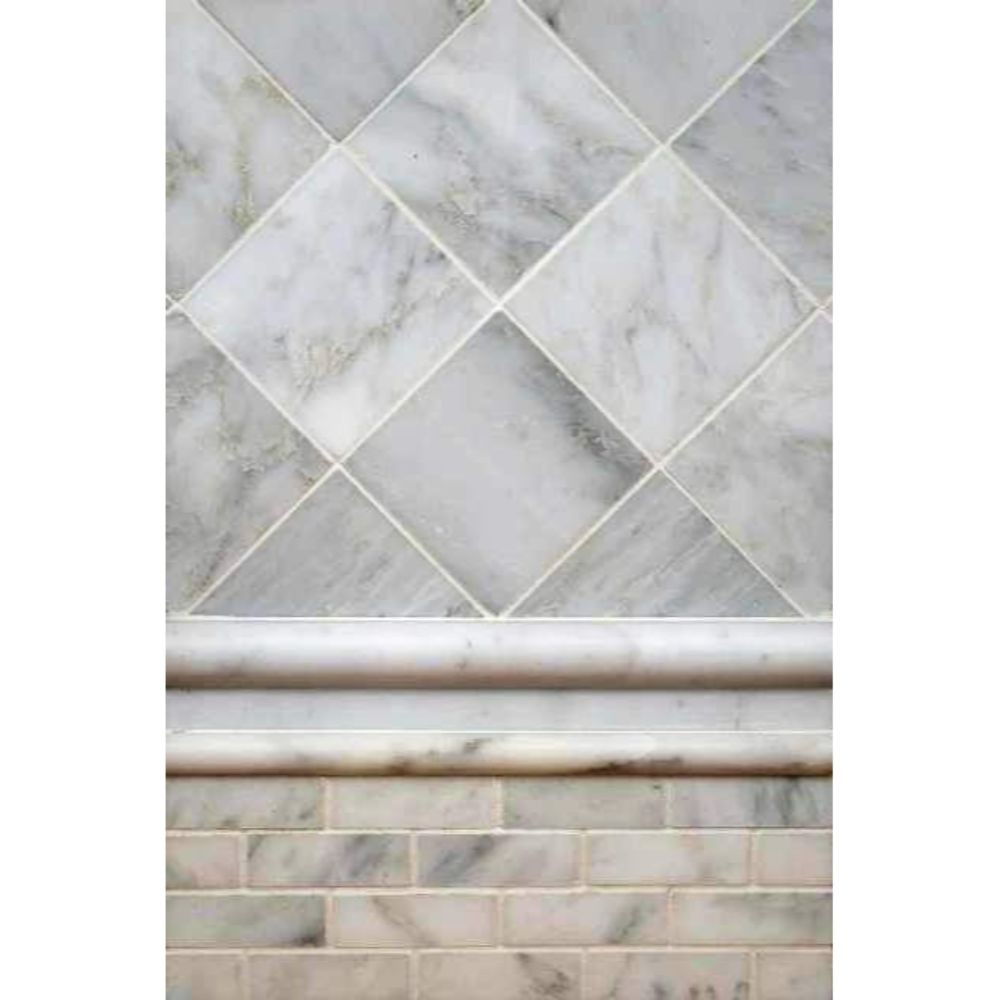 Arabescato Carrara Rail 1X2X12 Polished