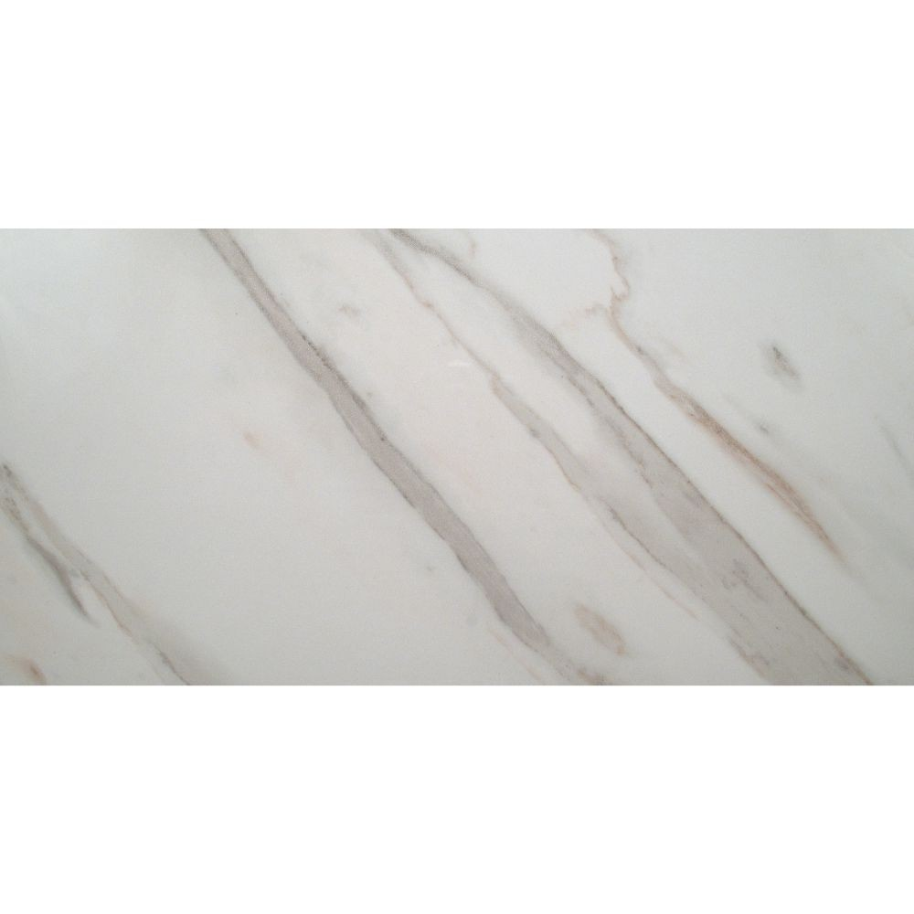 Calacatta Ivory 12X24 Polished Porcelain Floor and Wall Tile