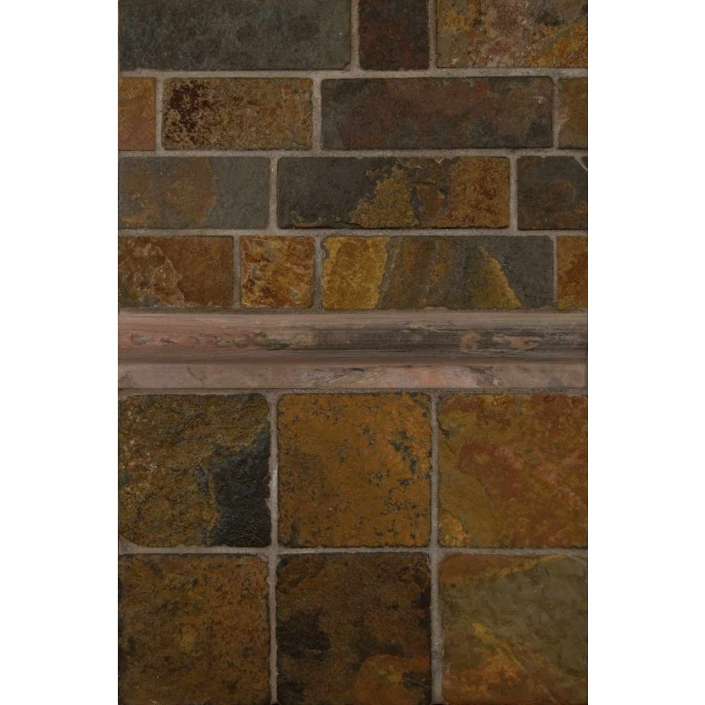 California Gold Tumbled Brick Pattern Mosaic
