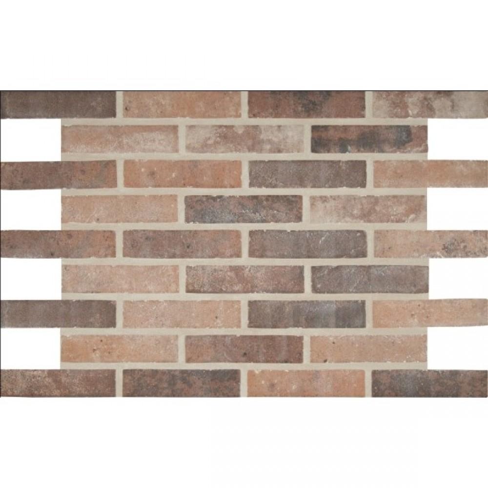 Capella Red 2X10 Brick Pattern Matte Porcelain Tile