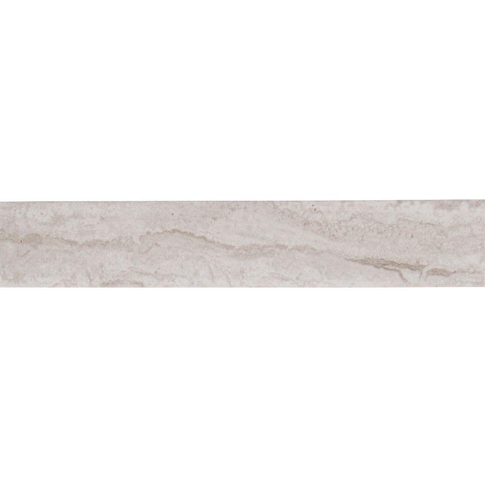 MSI Capella Talc 3X18 Matte Bullnose Porcelain Tile
