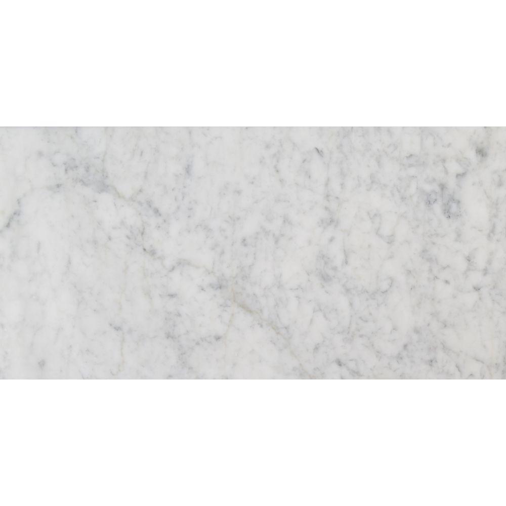 Carrara White 12X24 Polished Marble Tile
