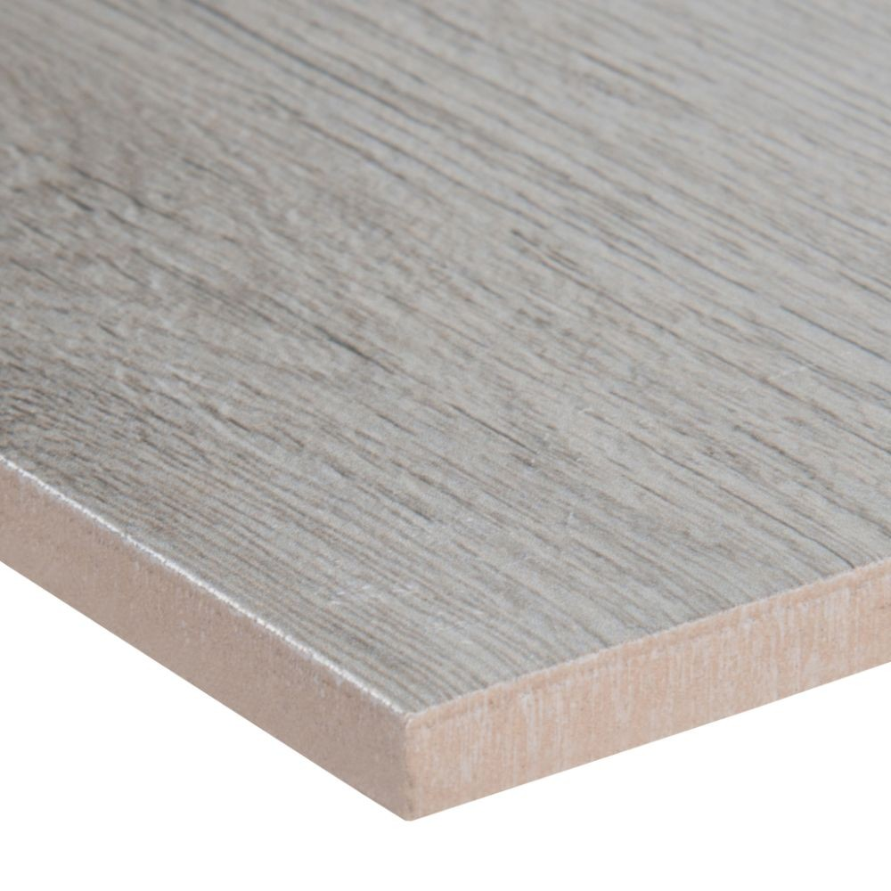 Celeste Grayseas 8X40 Black Matte Wood Look Ceramic Tile