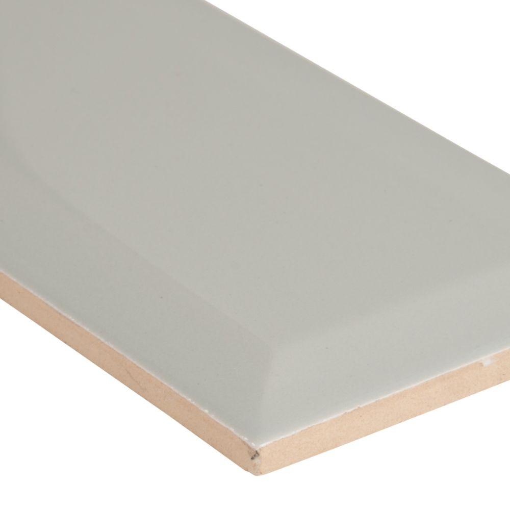 Domino Gray 3X6 Beveled Glossy Subway Tile