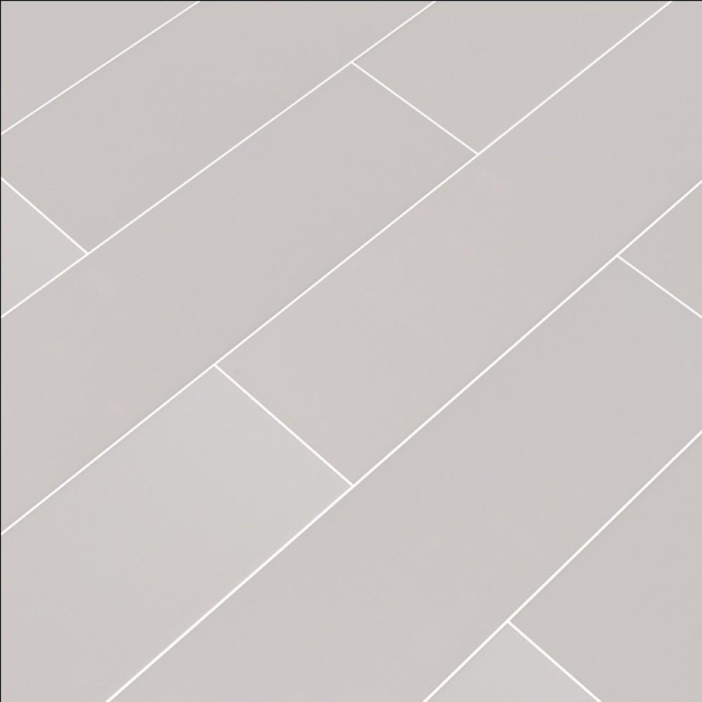 Domino Gray Glossy 4x16 Subway Ceramic Tile