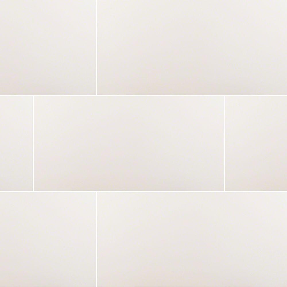 Domino White 12X24 Matte Porcelain TIle