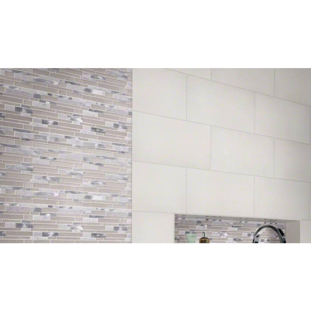 Domino White 24X24 Matte Porcelain TIle