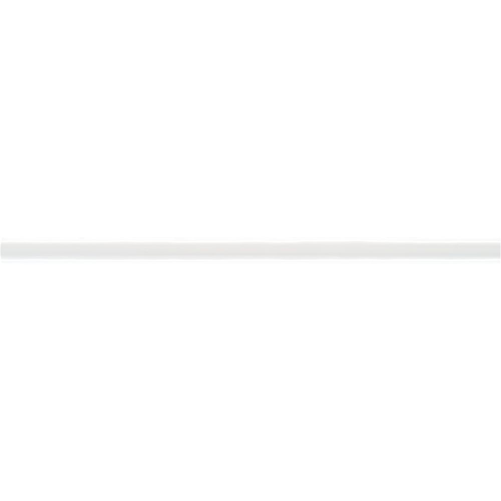Domino White Glossy 1/2x12 Pencil Ceramic Molding