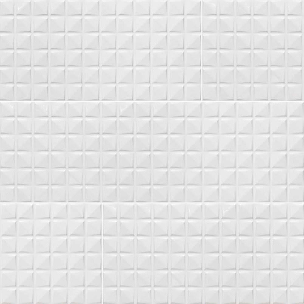 Dymo Chex White 12X36 Glossy Ceramic Tile