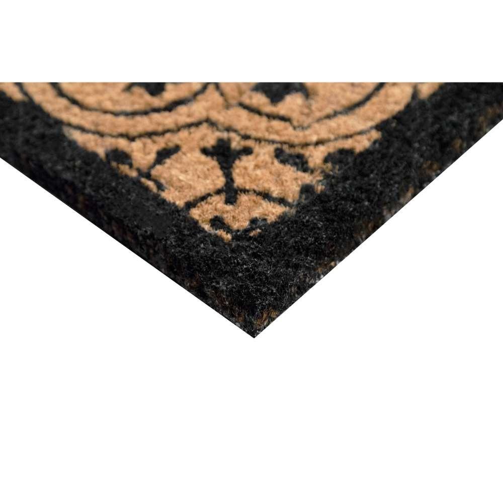 Encaustic Black Natural Coir 22X36 Door Mat