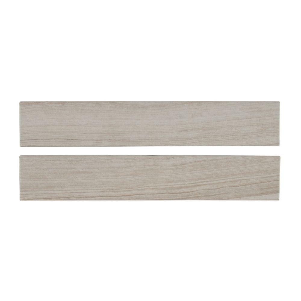MSI Eramosa Silver 3x18 Matte Bullnose Tile