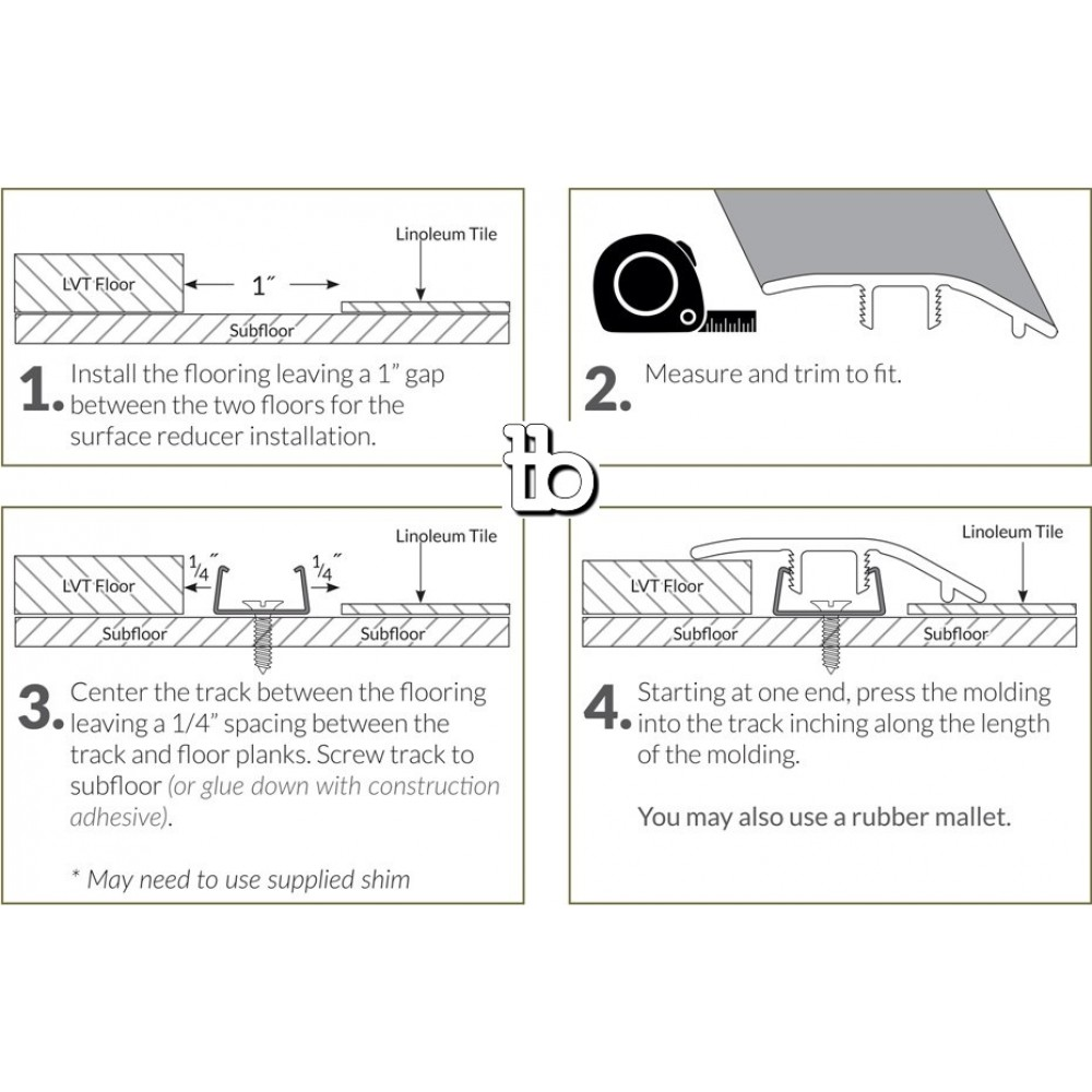 Cyrus Sandino 1-3/4X94 Vinyl Reducer