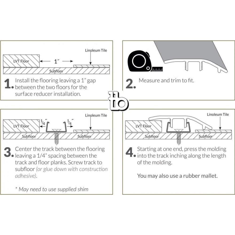 Jatoba 1-3/4X94 Vinyl Reducer