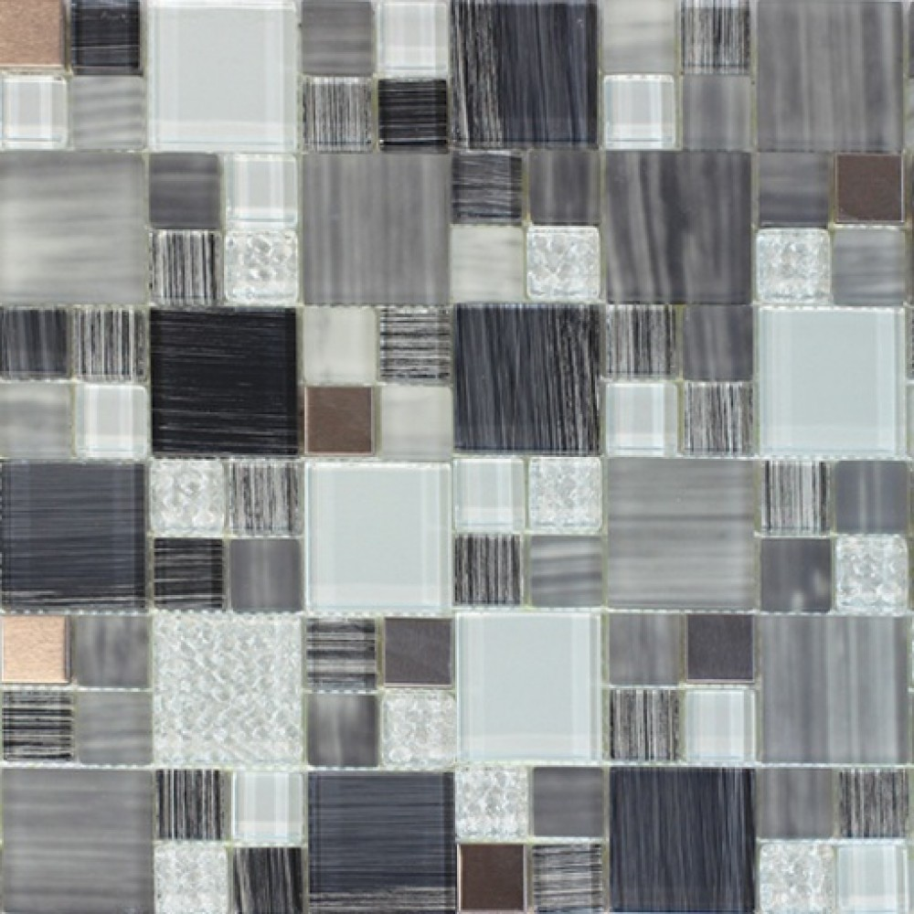 Argyle French Pattern Glass Mix 12x12 Mosaic