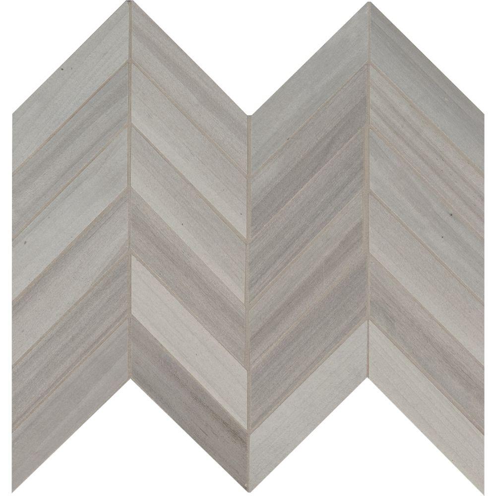 Havenwood Platinum 12X15 Matte Chevron Mosaic