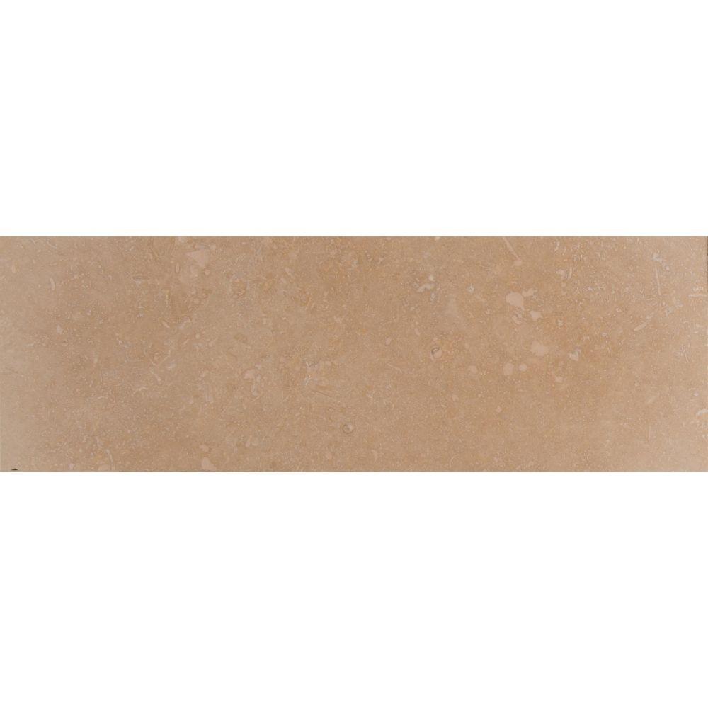Ivory Trav Base Board 4X12 Honed