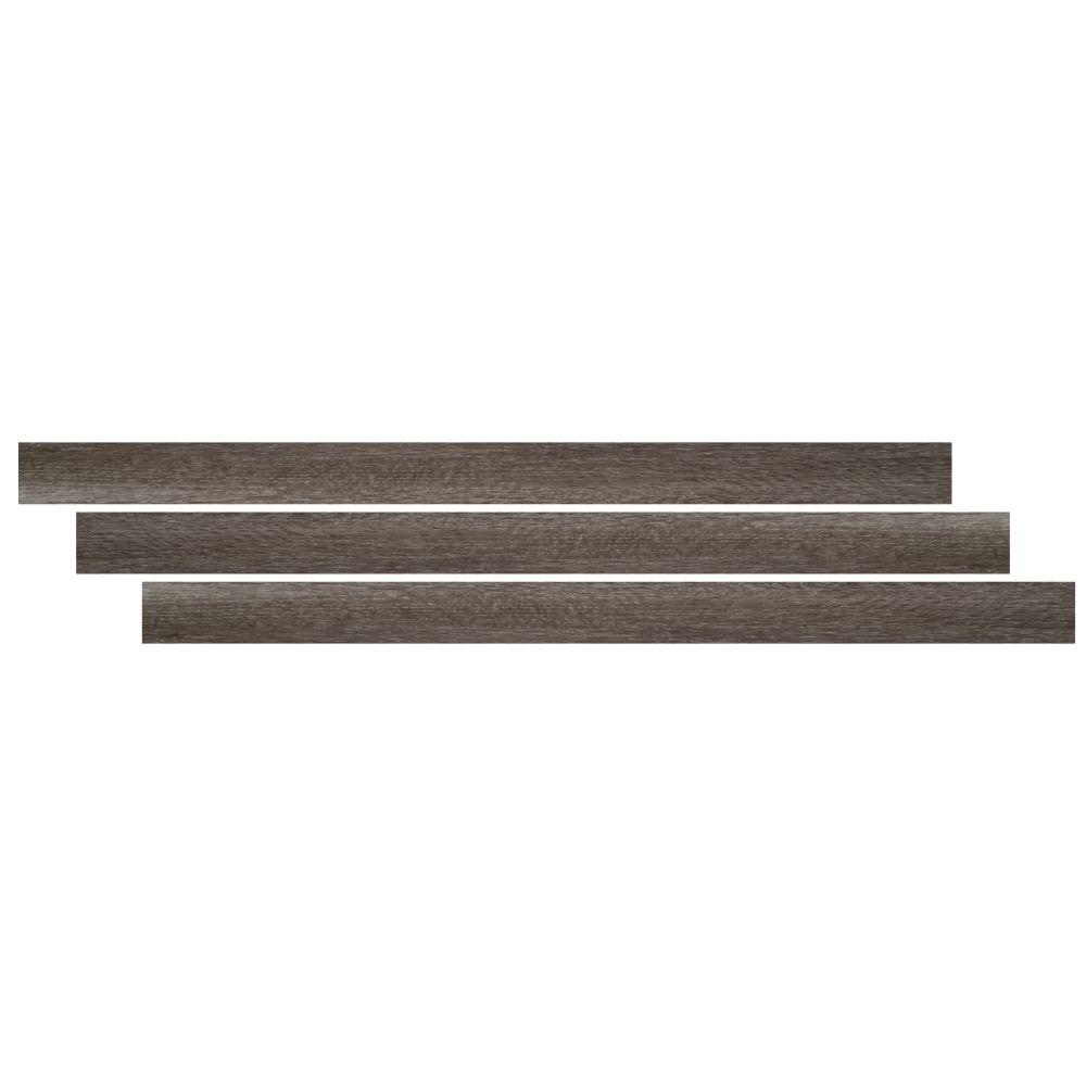 Ludlow / Charcoal Oak 1-3/4X94 Vinyl Tmolding