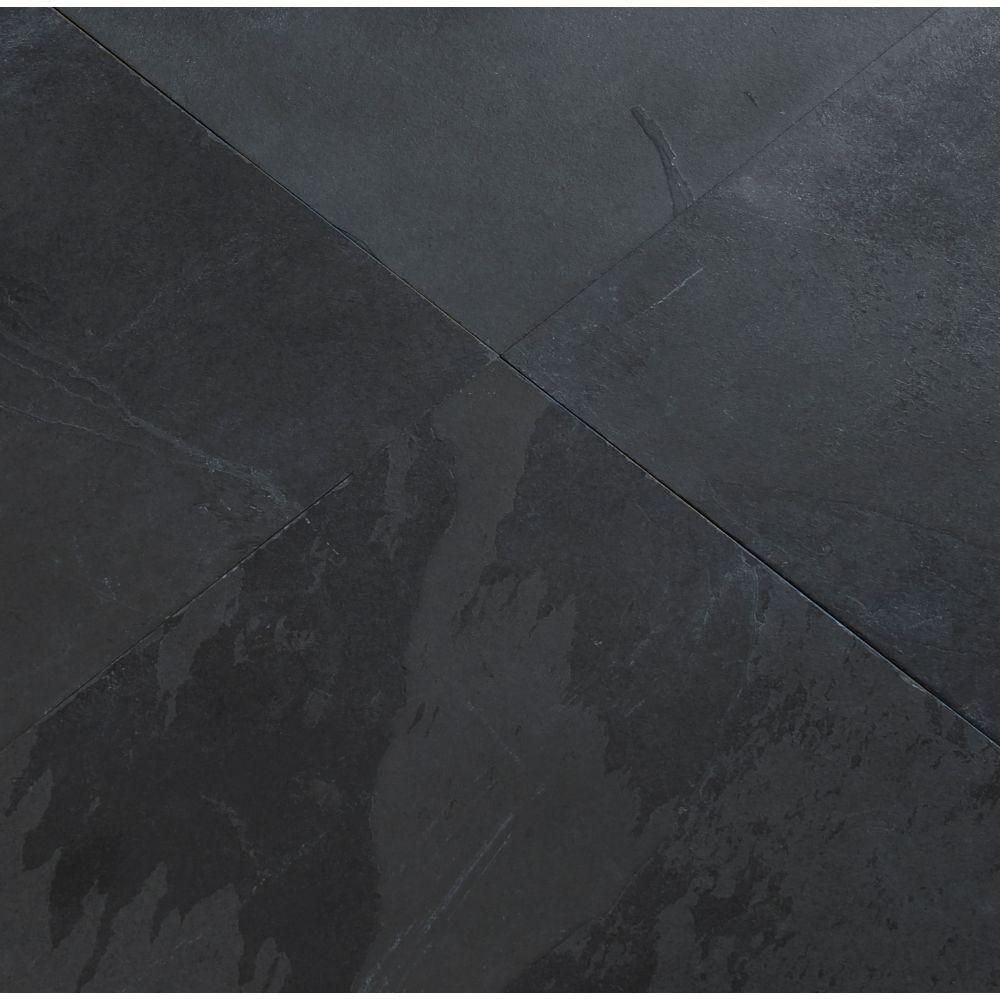 Montauk Black 16X16 Gauged Slate Tile