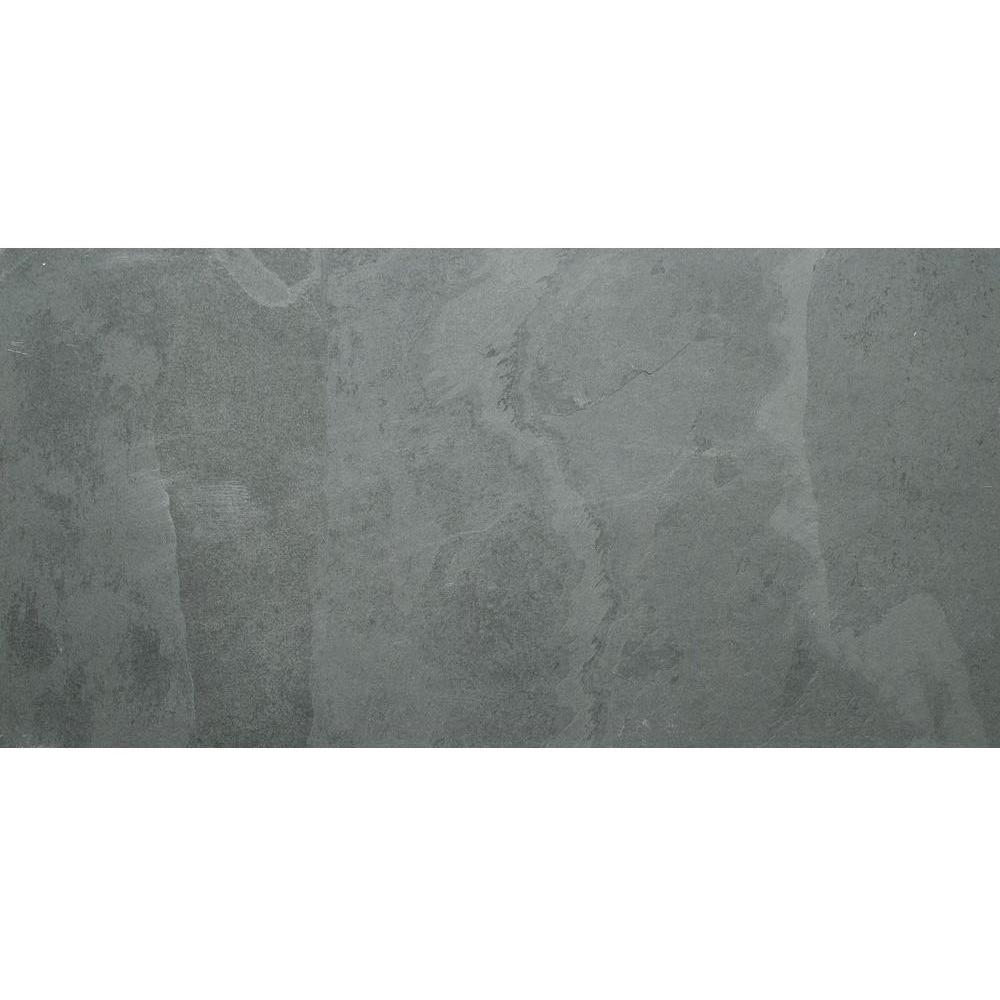 Montauk Black 18x36 Gauged Slate Tile