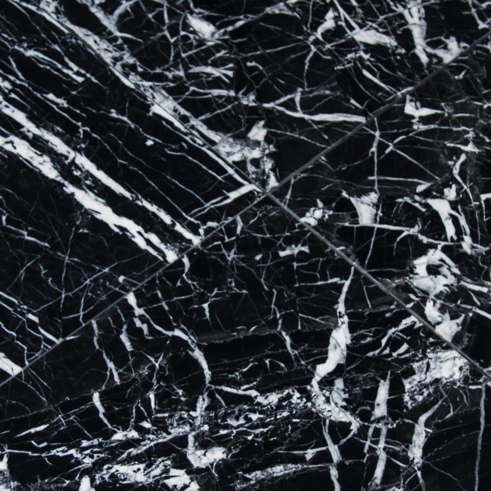 Nero Marquina 12X12 Polished Marble Floor and Wall Tile