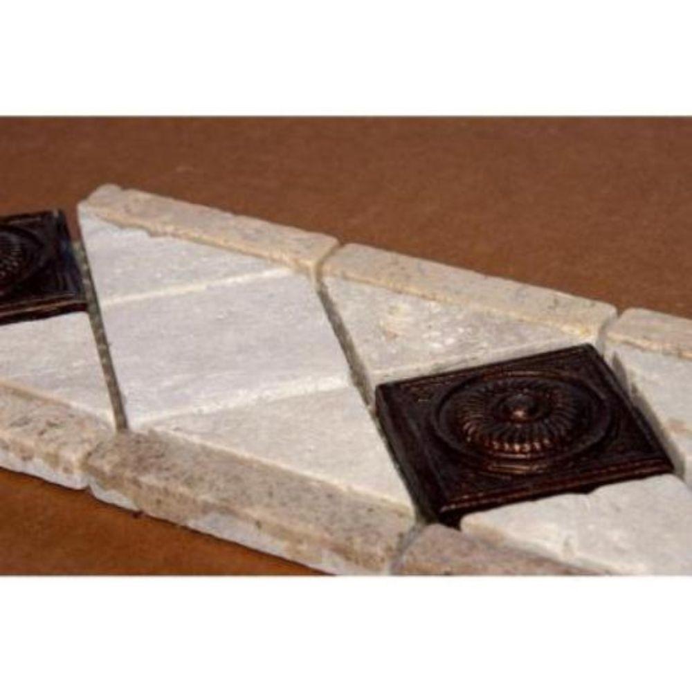 Noce Chiaro Copper Scudo 4x12 Listello Floor Tiles Usa