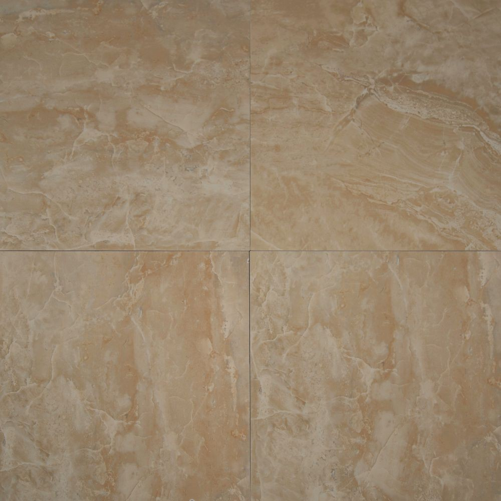 Onyx Crystal 12X12 Polished Porcelain Floor and Wall Tile