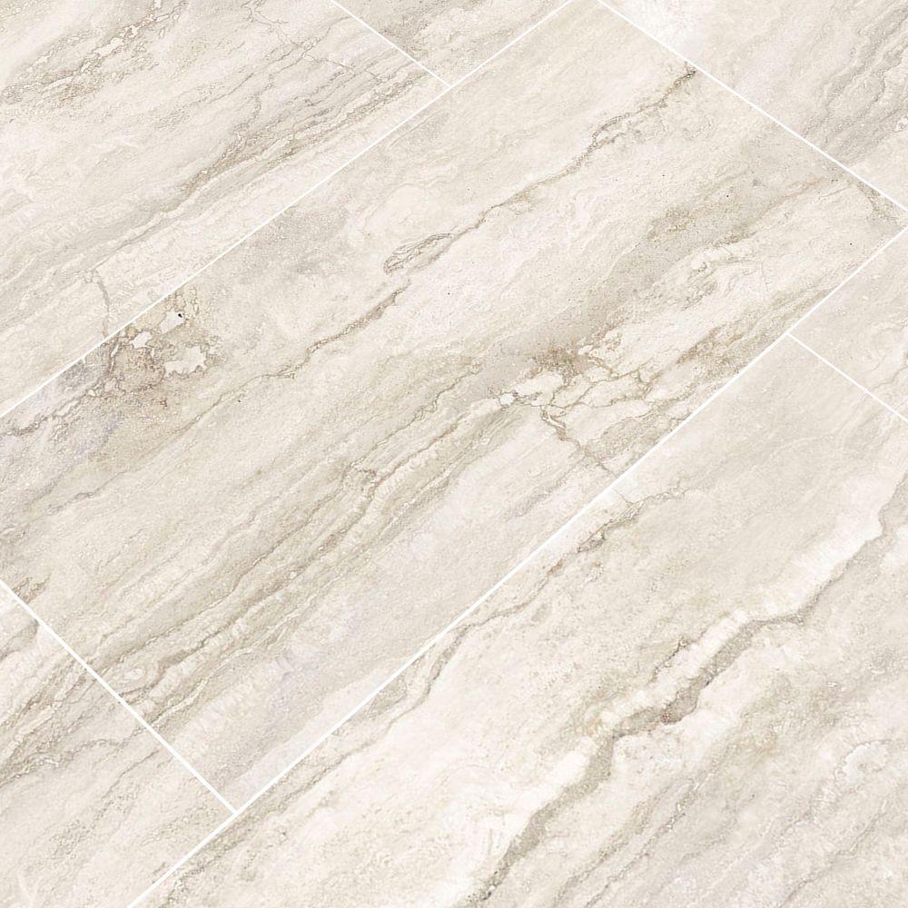 Pietra Bernini Bianco 12X24 Polished Porcelain Tile
